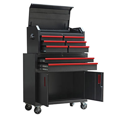 torin 36-inch 8 drawer tool chest and cabinet set - sam's club