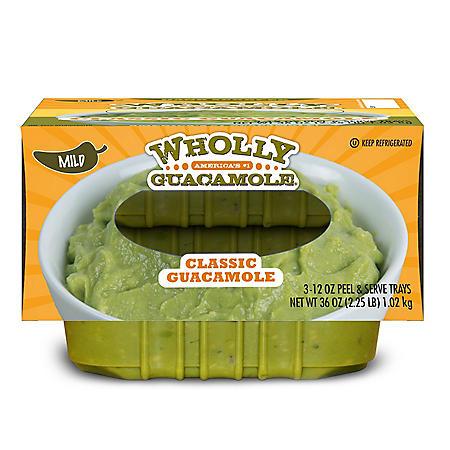 Wholly Guacamole Classic Guacamole, Mild (12 oz., 3 pk.)