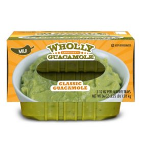 Wholly Guacamole Classic Guacamole, Mild (12 oz. trays, 3 pk.)