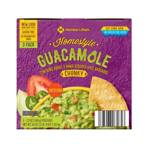 Wholly Guacamole Homestyle Trays (12 oz., 3 pk.)