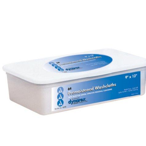 Dynarex Adult Pre-moistened Washcloths - 512 ct.
