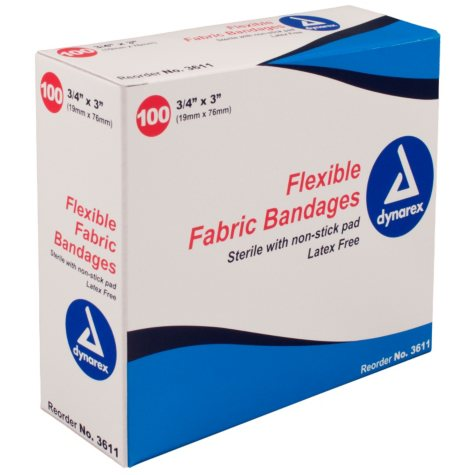 """Dynarex Flexible Sterile Bandage - 3/4"""" x  3"""""""