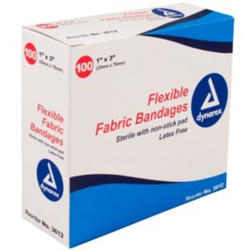 "Dynarex Flexible Sterile Fabric Bandage - 1"" x  3"""