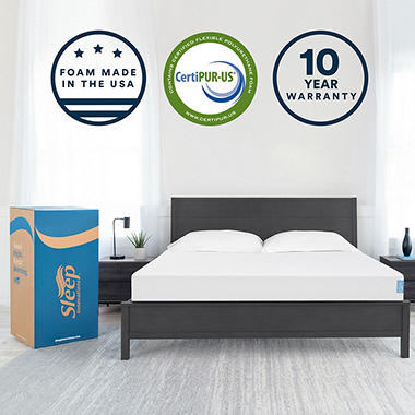 Sleep Innovations 8 inch Gel Memory Foam Twin Mattress - Sam\u0027s Club