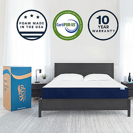 "Sleep Innovations 10"" Gel Memory Foam California King Mattress"