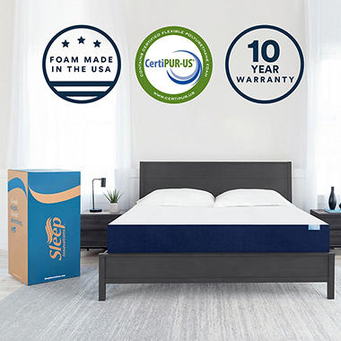 Sleep Innovations 10 inch Gel Memory Foam King Mattress