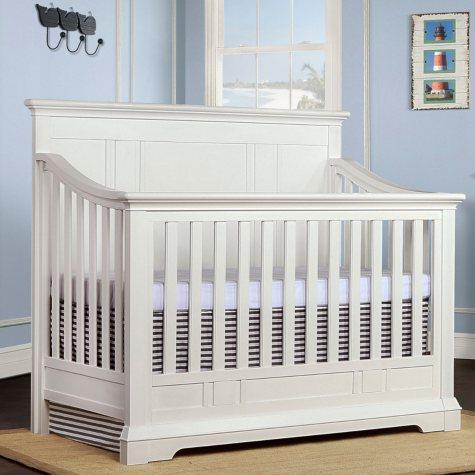 Evolur Parker 5-in-1 Convertible Crib, White