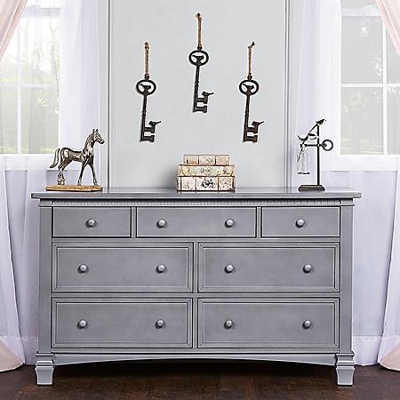 Evolur Santa Fe 7 Drawer Dresser, Storm Gray