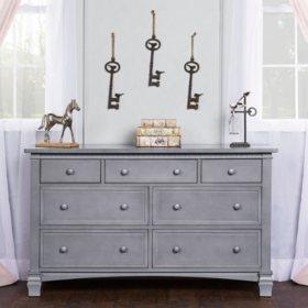 Evolur Santa Fe Double Dresser, Storm Gray