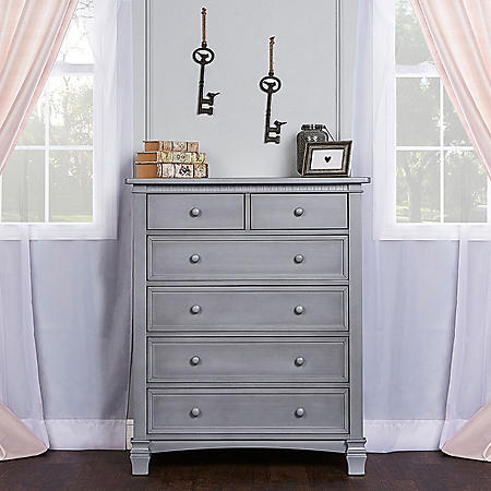 Evolur Santa Fe 6-Drawer Chest, Storm Gray
