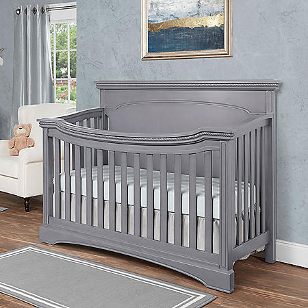 Evolur Catalina 4-in-1 Convertible Crib, Storm Gray