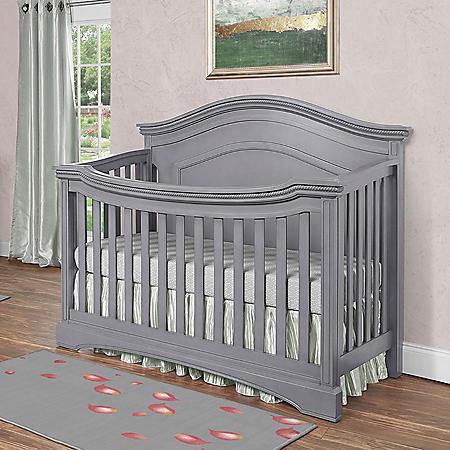 Evolur Adora Convertible Crib, Storm Gray