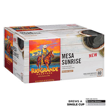 Rio Grande Roasters Mesa Sunrise Coffee, Single Serve (80 ct.)