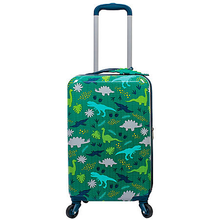 Kids Hardside Luggage with Matching Luggage Tag