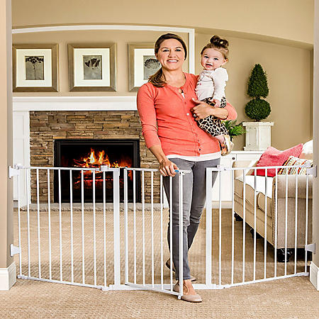"""Regalo Extra Wide Flexi Baby Gate, Fits Openings 28"""" -76"""""""