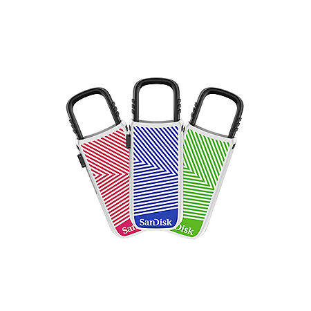 Cruzer U 16GB USB Flash Drive 3 pack
