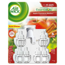 Air Wick Oils, Various Scents (1 warmer, 6 refills)