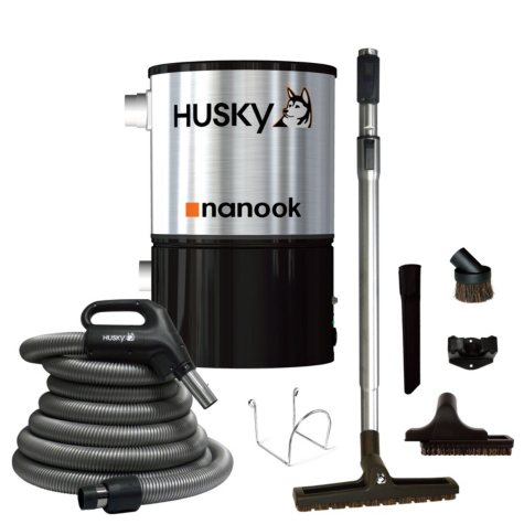 Husky Nanook 62 dB Central Vacuum & Attachments - 3,000 sq. ft.