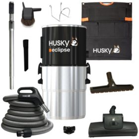 Husky Eclipse 63 dB Central Vacuum with Hose and Attachments