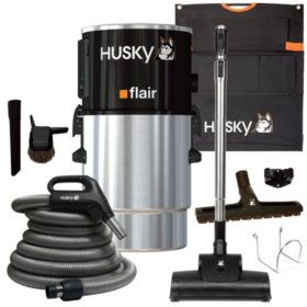Husky Flair 58 dB Central Vacuum & Attachments - 5,000 sq. ft.