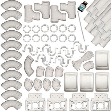 Husky Central Vacuum Piping 4 Inlet installation Kit