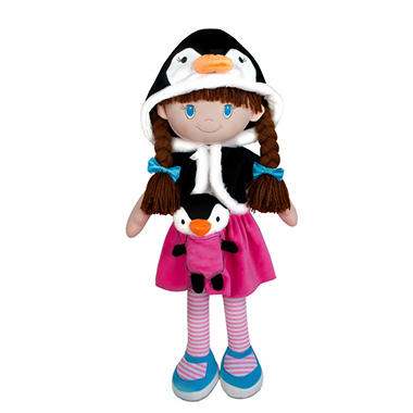 My Friend Huggles Soft Doll and Plush Pal 3-Piece Set, Harper and Otto