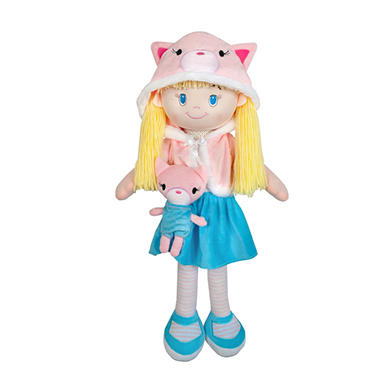 My Friend Huggles Soft Doll and Plush Pal 3-Piece Set, Arya and Aziz