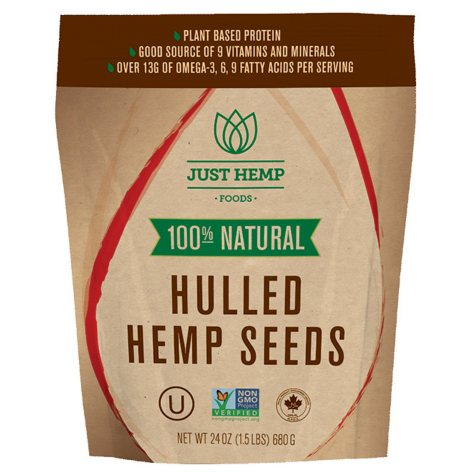 Just Hemp Foods Hulled Hemp Seeds (24 oz.)