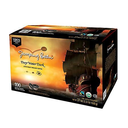 Jumping Bean Gourmet Coffee Single-Serve, Dark Roast (100 ct.)