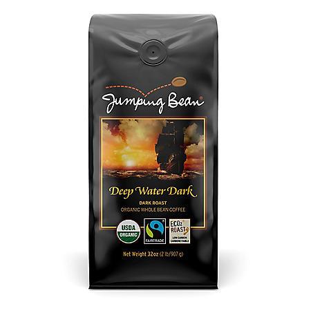 Jumping Bean Gourmet Whole Bean Coffee, Dark Roast (32 oz.)