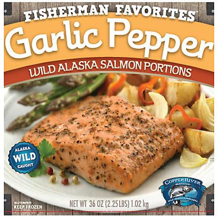 Wild Alaskan Garlic Pepper Salmon - 2.25 lbs.