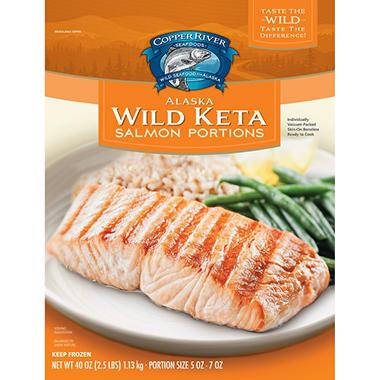 Copper River Alaska Wild Keta Salmon Portions (2.5 Lb. Bag)