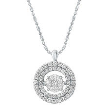 1.00 ct. t.w. Dancing Diamond Pendant in 14K White Gold