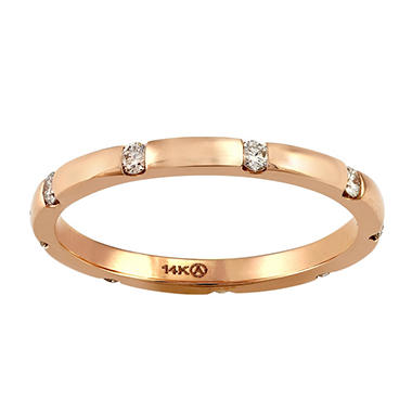 Stackable Diamond Eternity Band in 14K Gold (Assorted Colors)