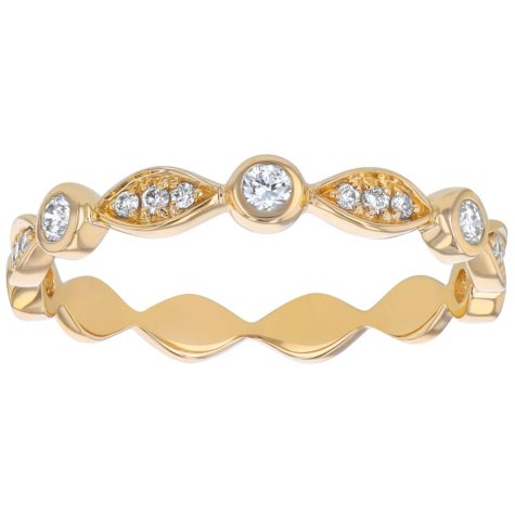 Stackable 0.25 CT. T.W. Diamond Anniversary Band in 14K Gold (Assorted Colors)