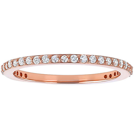 Stackable 0.25 CT. T.W. Diamond Band in 14K Gold (Assorted Colors)
