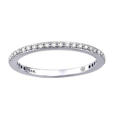 Stackable Diamond Band in 14K Gold (Assorted Colors)