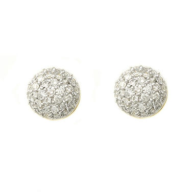 0.75 ct. t.w. Round Pave Diamond Earrings in 14K Yellow Gold (H-I, I1)