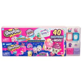 Shopkins Mega Pack Bundle of 2, Season 7 Party and 8 World Vacation, 40 Shopkins