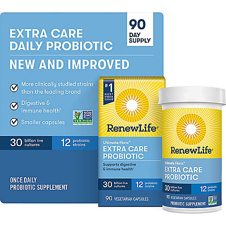 Renew Life Ultimate Flora Probiotic Extra Care, 30 billion (90 vegetable capsules)