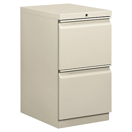"HON 19-7/8"" Efficiencies Mobile 2-Drawer Pedestal, Select Color"
