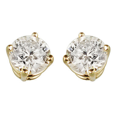 .46 ct. t.w. Round Diamond Stud Earrings (I, I1)