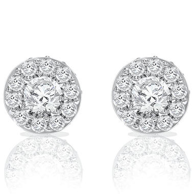 2 CT. T.W. Round Diamond Earrings (I, I1)