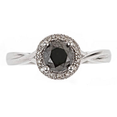 1.00 ct. t.w. Treated Black Diamond Ring in Sterling Silver