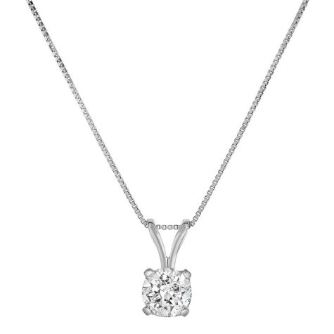 0.70 CT. T.W. Diamond Pendant in 14K White Gold