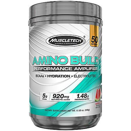 MuscleTech Amino Build Performance Amplifier, Watermelon (17.5 oz.)