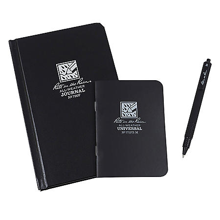 Rite In The Rain All-Weather Hard Bound Notebook, Mini-Memo Notebook and Pen