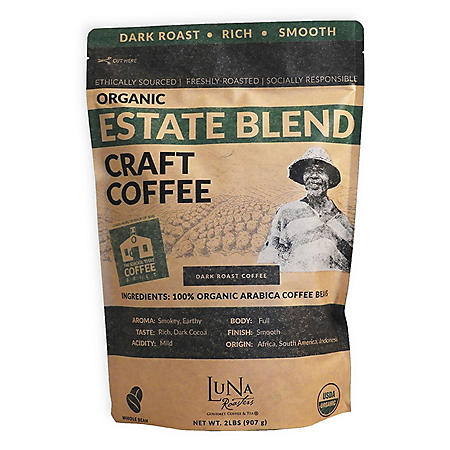 Luna Roasters Organic Estate Blend Coffee, Whole Bean (2 lb.)