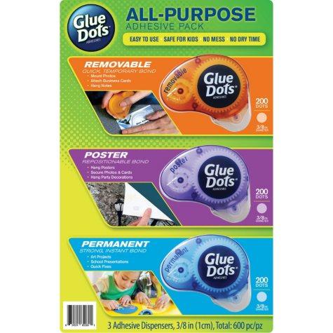 Glue Dots, Instant Bonding Adhesives, 3pk