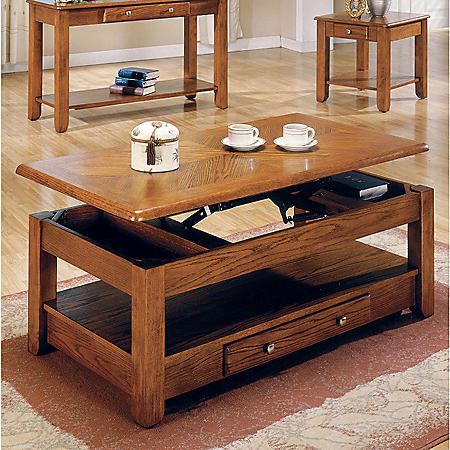 Logan Oak Lift-Top Cocktail Table